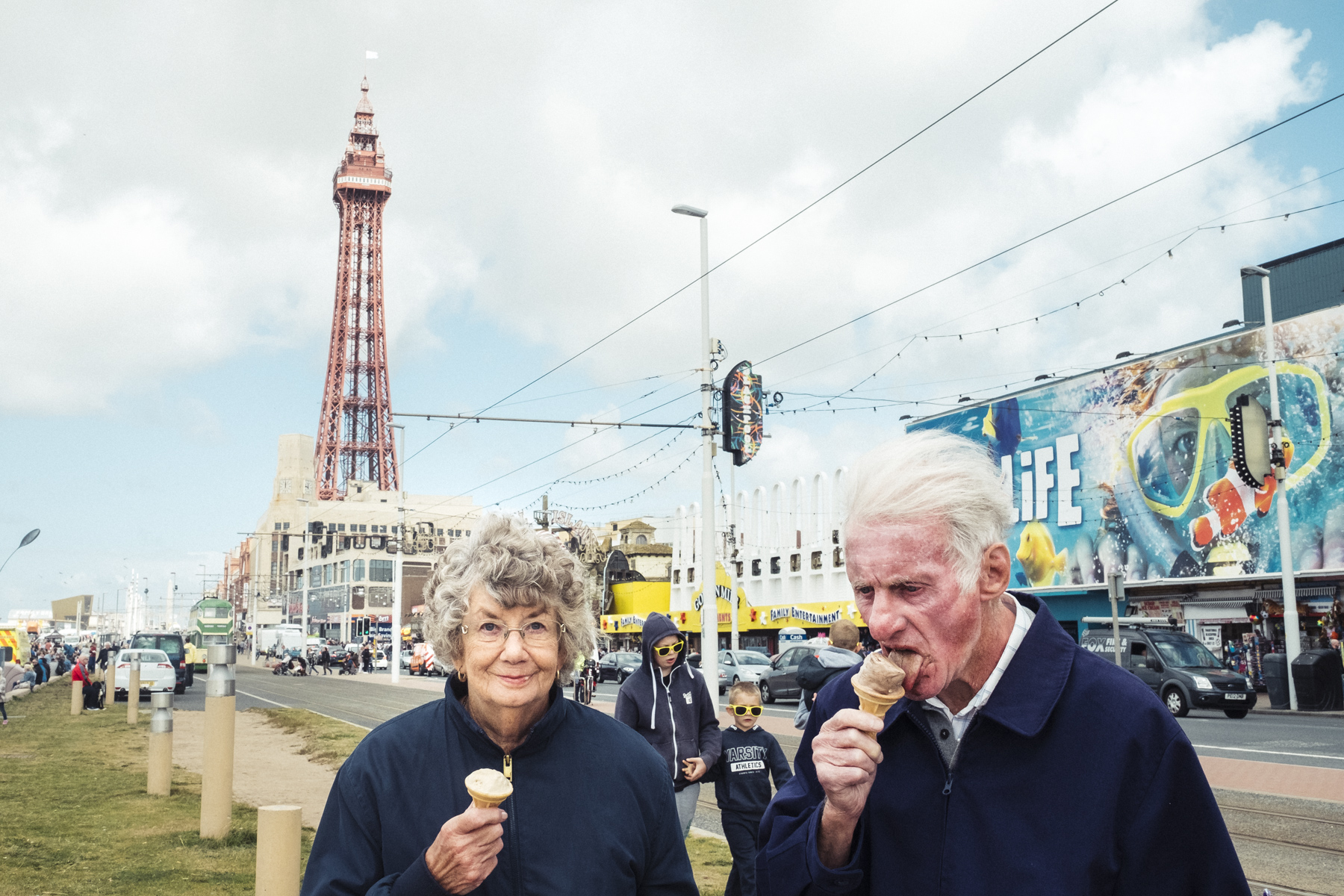 Back to Blackpool. Vacations of Brexit. Back to Blackpool. Les vacances du Brexit.