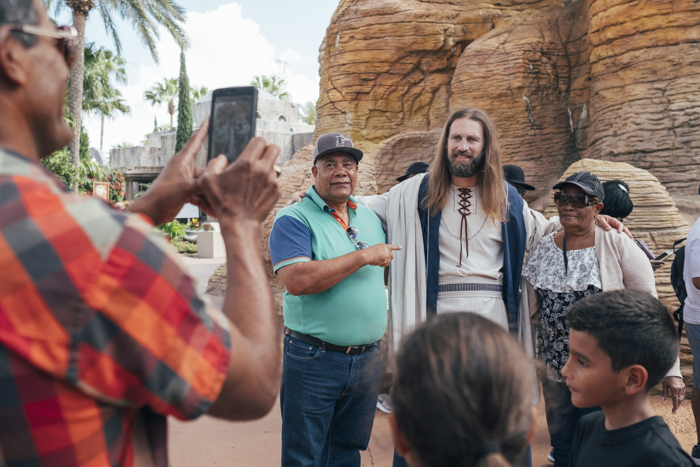 Jesus is the super star of the Holy Land Experience Park. For many visitors, touching the false messiah is a true blessing.