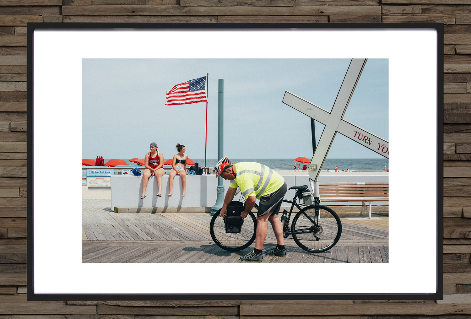 Cross Bike on the boardwalk